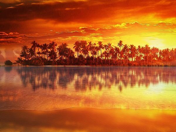 Gabriella Weninger - David - Sunset in paradise