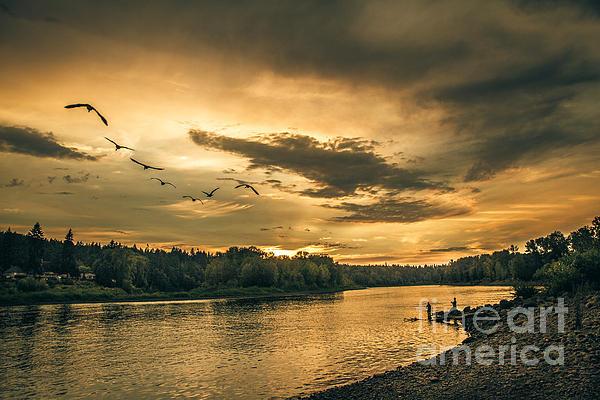 Robert Bales - Sunset On The Willamette River