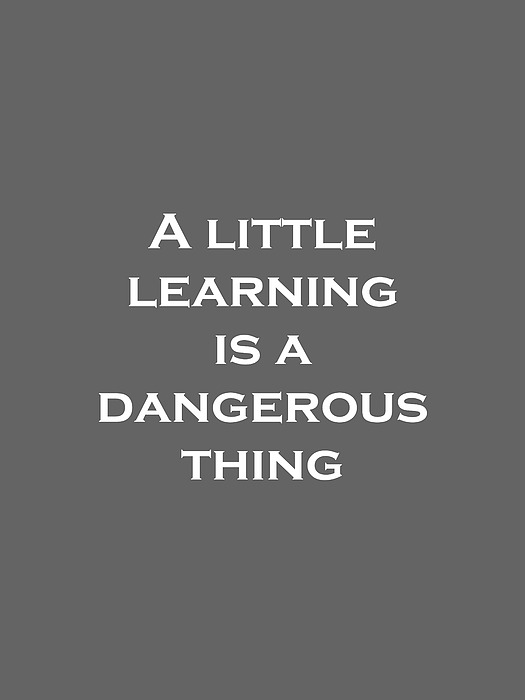 a little learning is a dangerous thing essay