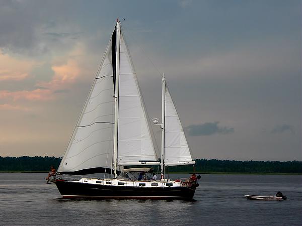 Kathy K McClellan - Tahiti Under Sail