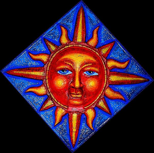 Talking Sun Print by Genevieve Esson
