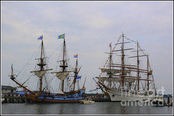 Photographic Art and Design by Dora Sofia Caputo - Historic Tall Ships Hermione and Sagres