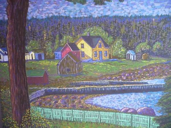 Tancook Houses Print by Rae  Smith