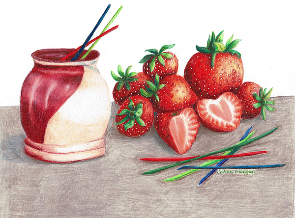 JoAnn   Morgan  - Tawas Pottery and Strawberries2