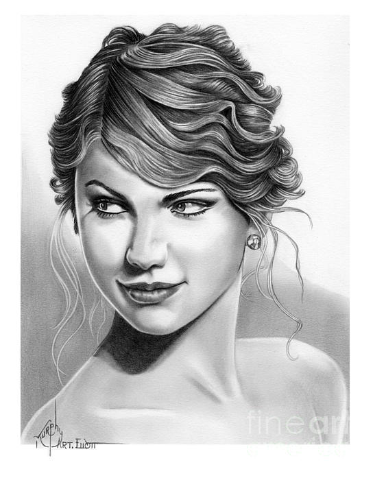 Taylor Swift Print by Murphy Elliott