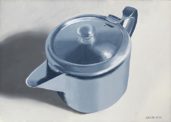 Teapot Still Life Oil Painting Print by Mark Webster