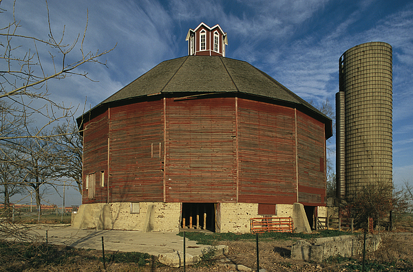 Teeple Barn, Built Circa 1885 By Dairy Print by Ira Block