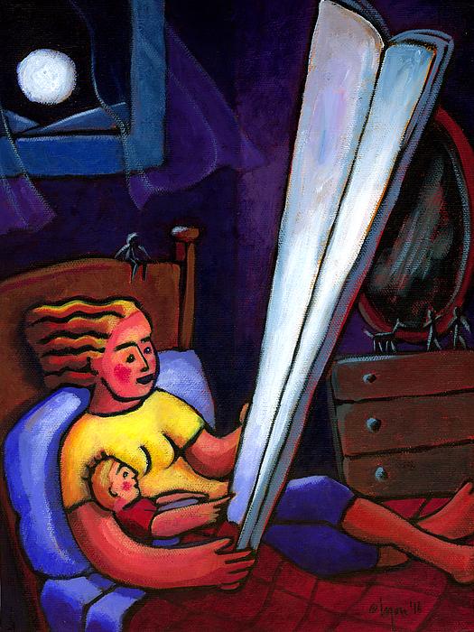 Telling Tall Tales Print by Angela Treat Lyon