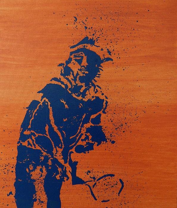 Tennis Splatter Print by Ken Pursley