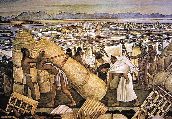 Tenochtitlan (mexico City) Print by Granger