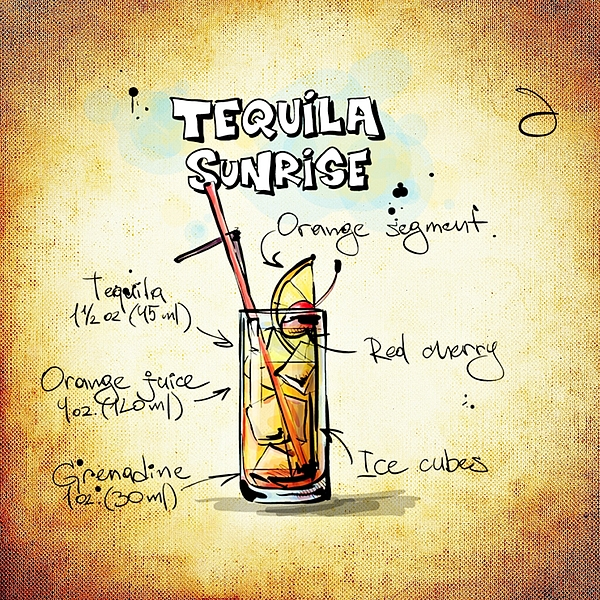 tequila sunrise by movie poster prints