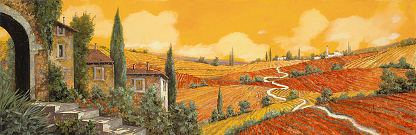 terra di Siena Print by Guido Borelli