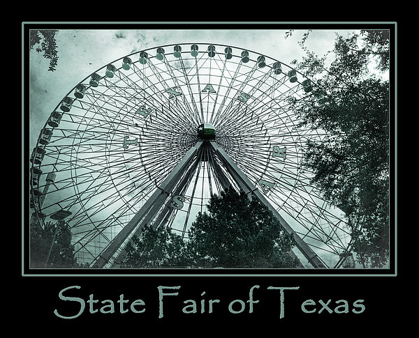 Joan Carroll - Texas Star Aqua Poster