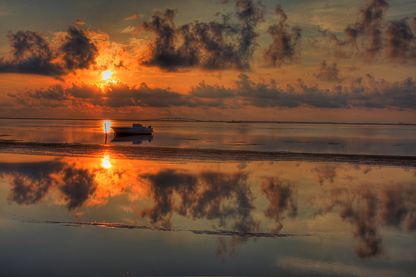Texas Sunset Gulf Of Mexico Print by Kevin Hill