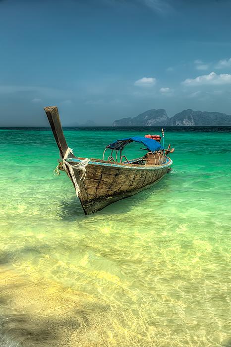 Thai Longboat Print by Adrian Evans