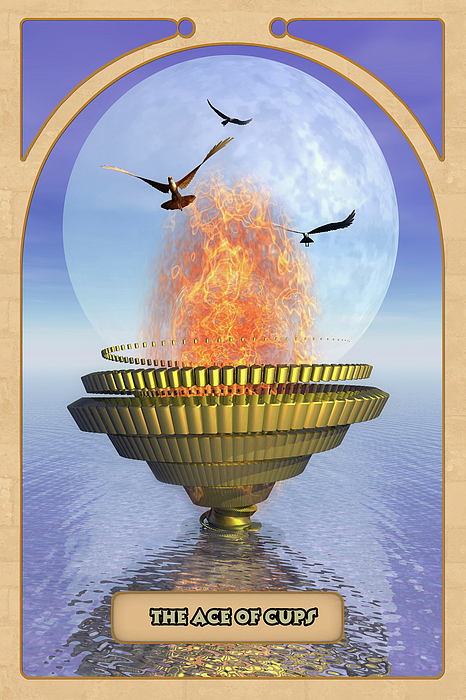 The Ace Of Cups Print by John Edwards