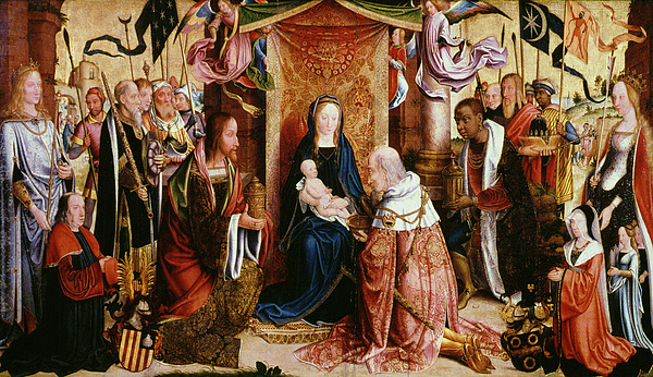 The Adoration Of The Kings Print by Master of Saint Severin
