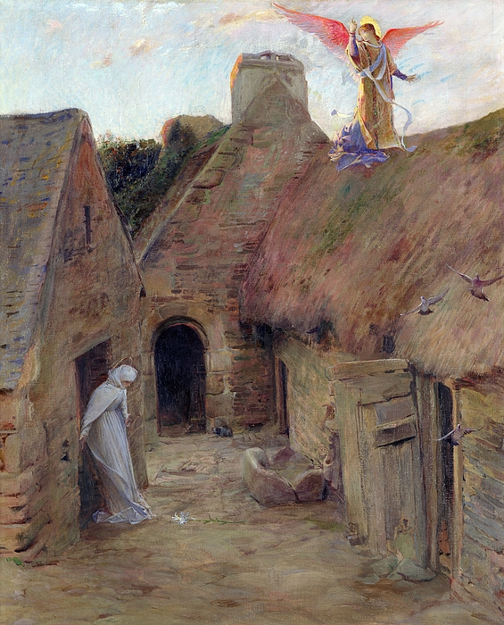 The Annunciation Print by Luc Oliver Merson