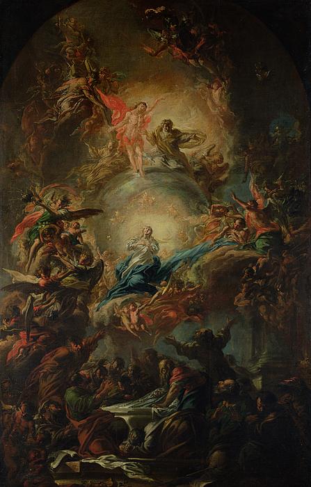 The Assumption Print by Johann Christoph Lischka
