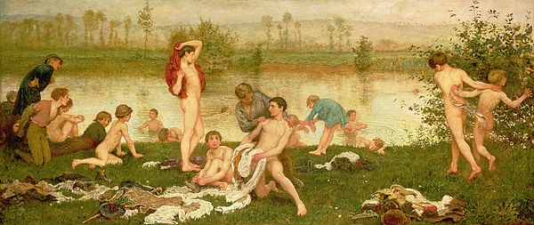The Bathers Print by Frederick Walker