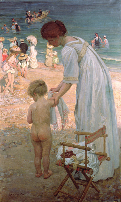 The Bathing Hour  Print by Emmanuel Phillips Fox