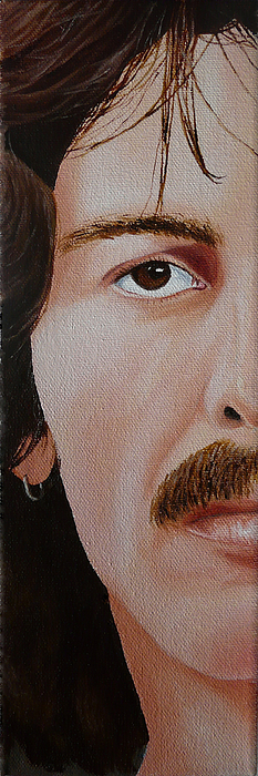 The Beatles George Harrison Print by Vic Ritchey