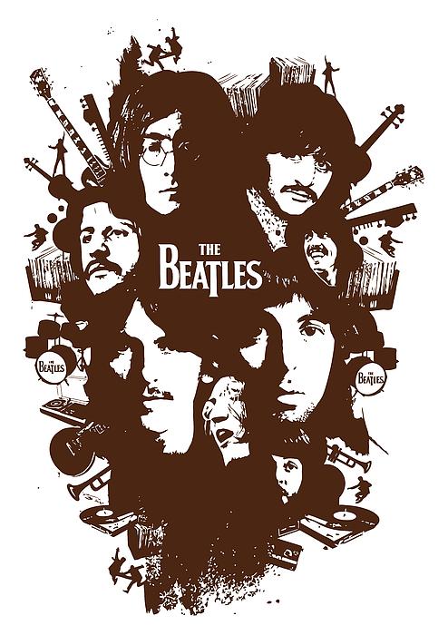 The Beatles No.15 Print by Caio Caldas