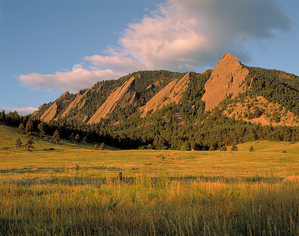 The Boulder Flatirons Print by Jerry McElroy