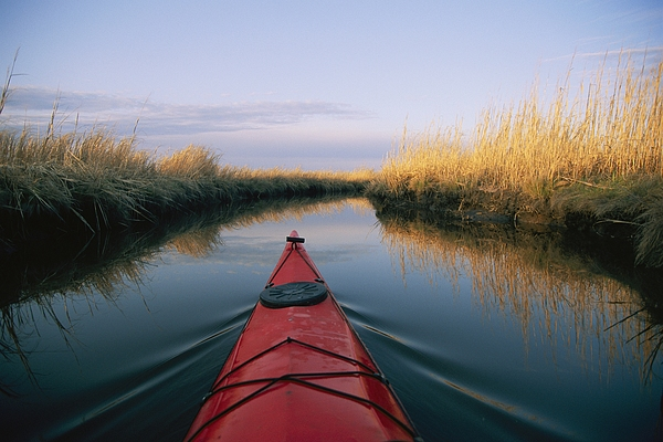 The Bow Of A Kayak Points The Way Print by Skip Brown