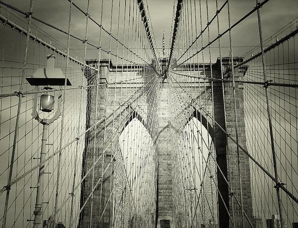 The Brooklyn Bridge Print by Vivienne Gucwa