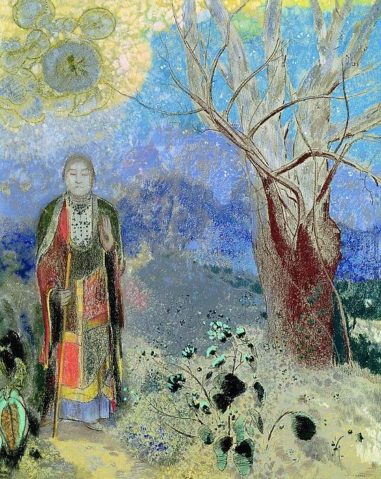 The Buddha Print by Odilon Redon