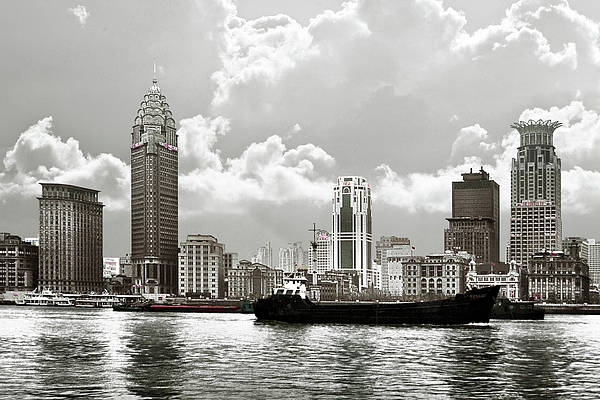 The Bund - Old Shanghai China - A Museum Of International Architecture Print by Christine Till