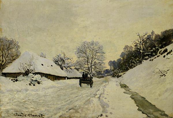 The Cart Print by Claude Monet