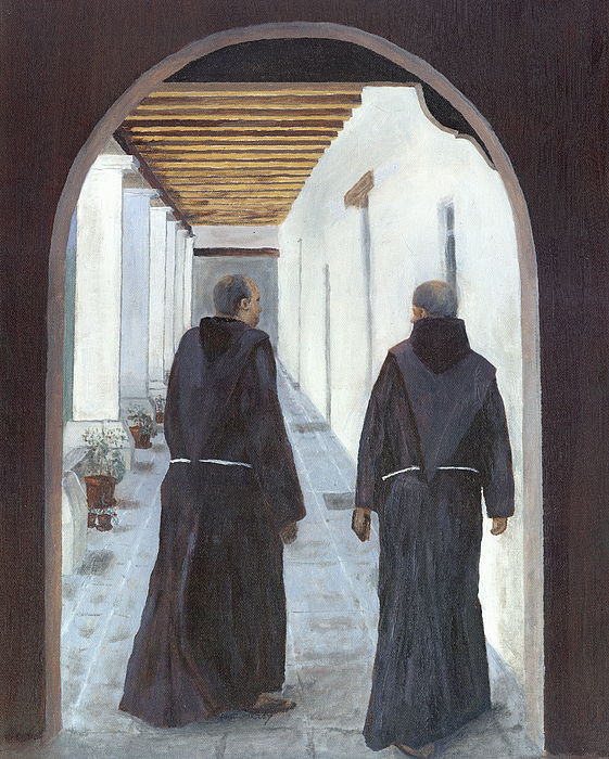 The Cloister Print by Peter Worsley