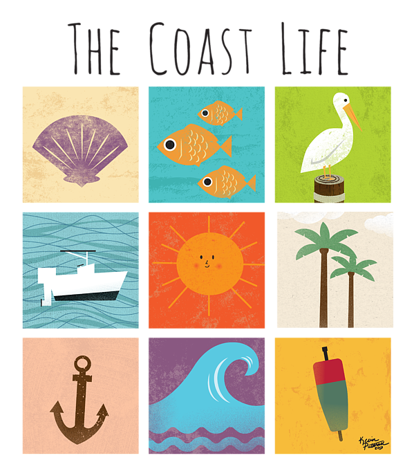The Coast Life Shower Curtain For Sale By Kevin Putman