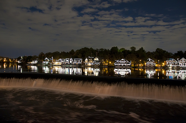 The Colorful Lights Of Boathouse Row Print by Bill Cannon