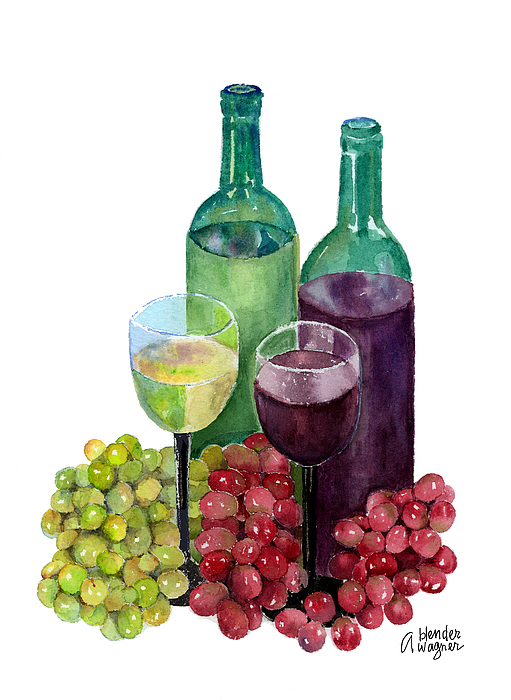 The Colors Of Wine Print by Arline Wagner