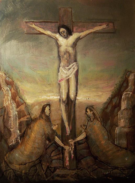 The Crucifixion Of Christ Print by Derek Van Derven