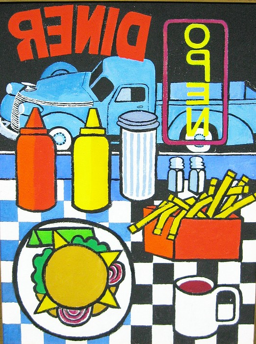 The Diner Print by Nicholas Martori