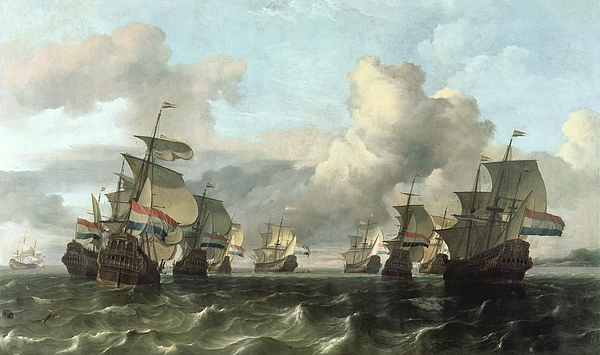 The Dutch Fleet Of The India Company Print by Ludolf Backhuysen