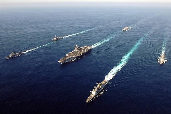The Enterprise Carrier Strike Group Print by Stocktrek Images