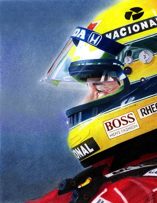 The Focus Of Ayrton Print by Lyle Brown