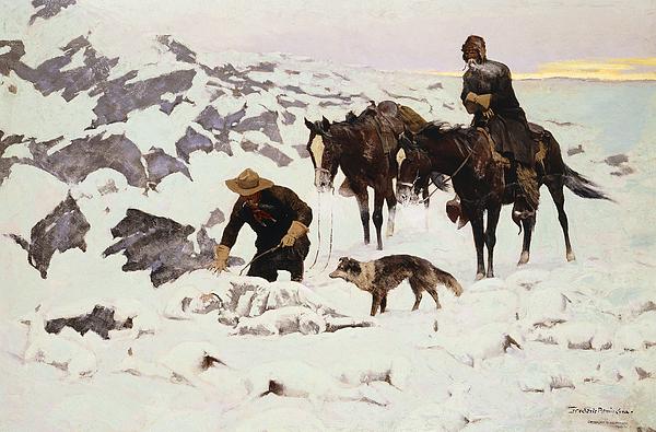 The Frozen Sheepherder Print by Frederic Remington