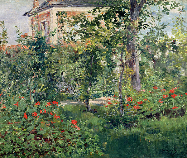 The Garden At Bellevue Print by Edouard Manet