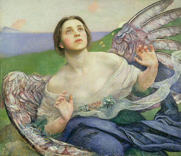 The Gift Of Sight Print by Annie Louisa Swynnerton