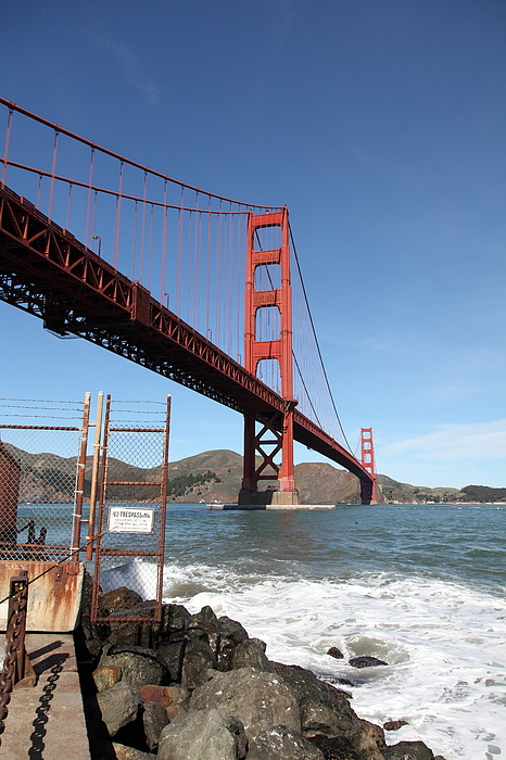 The Golden Gate Bridge At Fort Point - 5d21473 Print by Wingsdomain Art and Photography