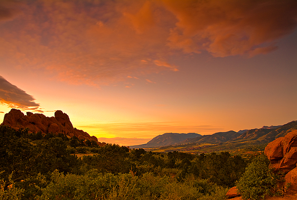 The Golden Hour Print by Tim Reaves