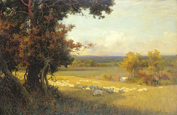 The Golden Valley Print by Sir Alfred East