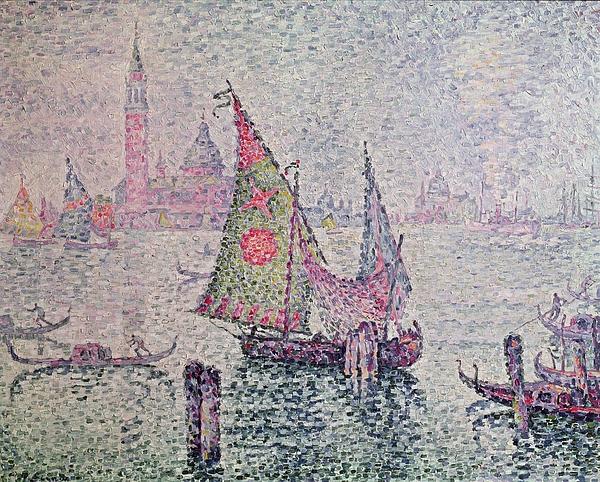 The Green Sail Print by Paul Signac