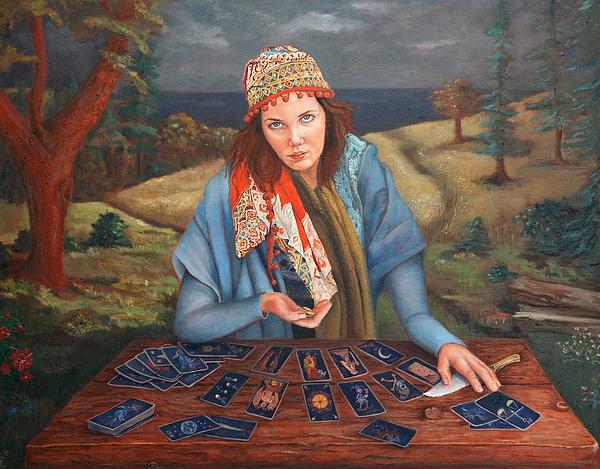 The Gypsy Fortune Teller Print by Enzie Shahmiri